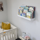 "PHILLY Floating Shelves Wall Bookshelf and Nursery Decor – 23.6"" Length – White - Wallniture"
