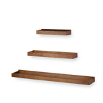PHILLY Kitchen Floating Shelves and Wall Mount Spice Rack - Multisize - Set of 3 - Walnut - Wallniture