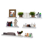 PHILLY Floating Shelves Wall Bookshelf and Picture Ledge - Multisize - Set of 3 - White, Navy Blue, Gray, Walnut - Wallniture