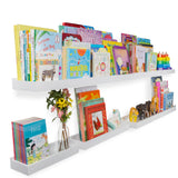 PHILLY Floating Shelves Wall Bookshelf and Nursery Decor - Multisize - Set of 3 - White - Wallniture