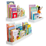 PHILLY Floating Shelves Wall Bookshelf and Nursery Decor - Multisize - Set of 3 - White