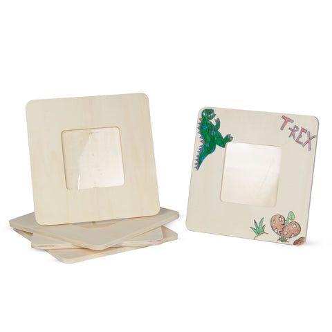 "WOODPIAZZA Wooden Picture Frames – 5"" x 5"" Display – 5 Pieces – Unpainted - Wallniture"
