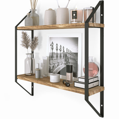 "PONZA 17"" Bathroom Shelf for Bathroom Decor, Wall Mount Bathroom Organizer – 2 Tier - Wallniture"