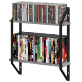PORTOFINO 2 Tier Rustic Floating Shelves and Wall Bookshelf for Living Room Decor - Gray - Wallniture