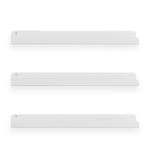 "SEDONA Floating Shelves and Wall Bookshelf, Nursery Decor – 17.5"" Length – Set of 3 - White - Wallniture"