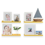"SEDONA Floating Shelves and Wall Bookshelf, Nursery Decor – 17.5"" Length – Set of 2 - Yellow - Wallniture"