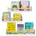 UTAH Multisize Wall BookShelf for Kids Room and Nursery decor – Set of 3 – White and Natural - Wallniture