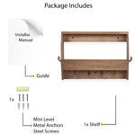VESTI Entryway Décor Mail Holder Shelf Coat Rack - 8 Hooks