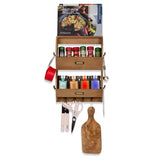 VESTI 2-Tier Entryway Coat Rack and Kitchen Drawer Utensil Organizer - 12 Hooks - wallniture