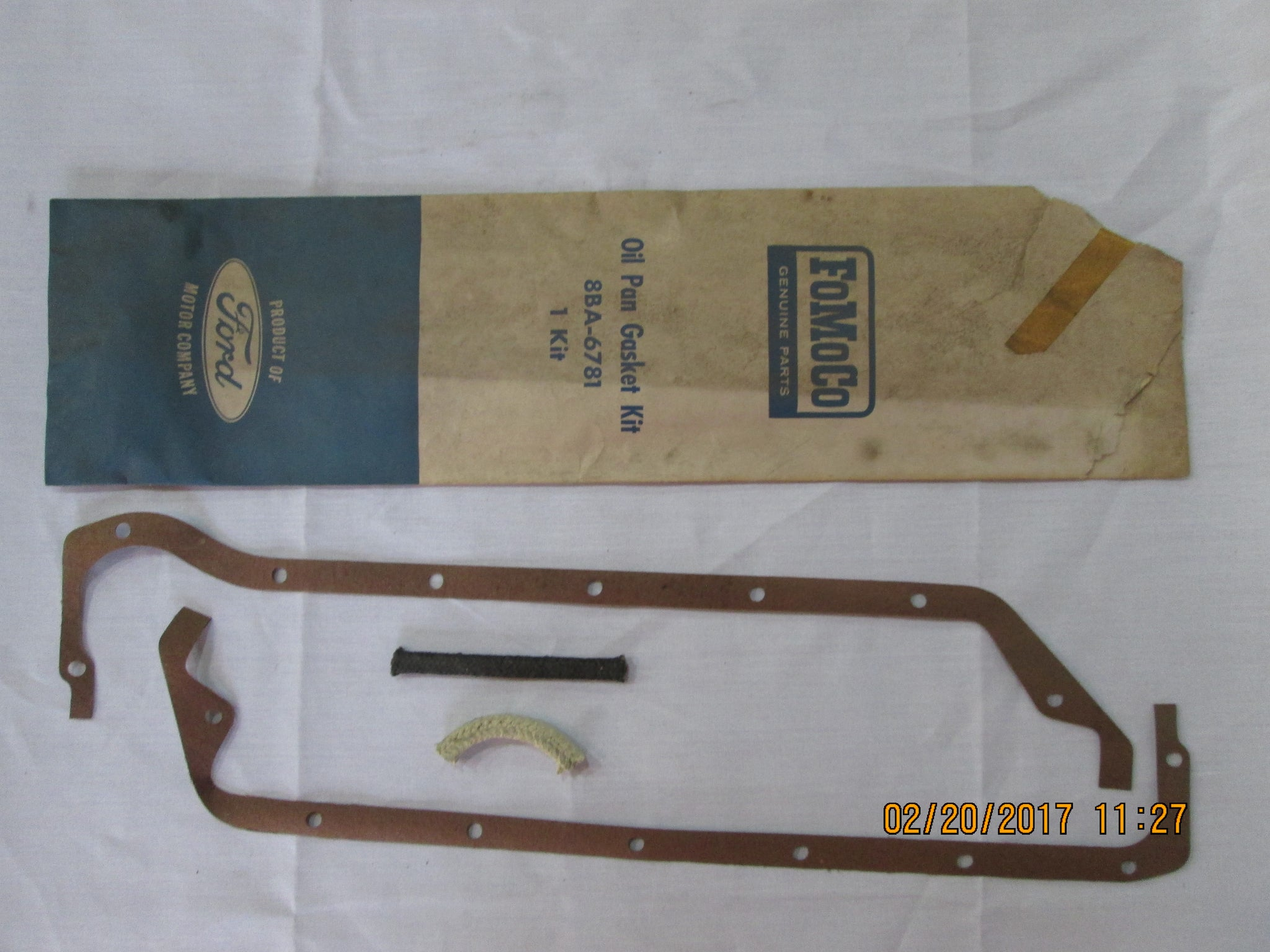NOS 1960's Ford Oil Pan Gasket Kit