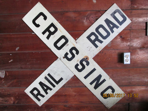 2 Piece Railroad crossing sign