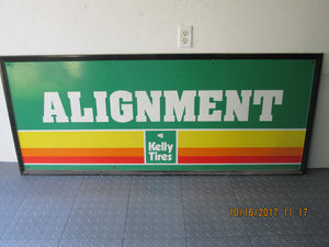 1988 Kelly Tires Alignment Metal Sign