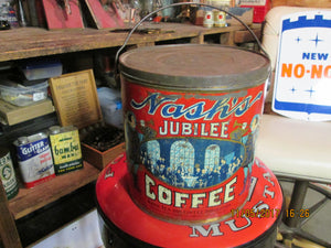 Very nice 1920's Nash's Jubilee 5 Pound Coffee Can