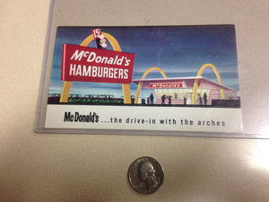 1960 McDonald's 1 Year Anniversary Post Card