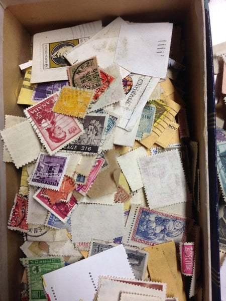 Box of Misc. Stamps - Instant Stamp Collection