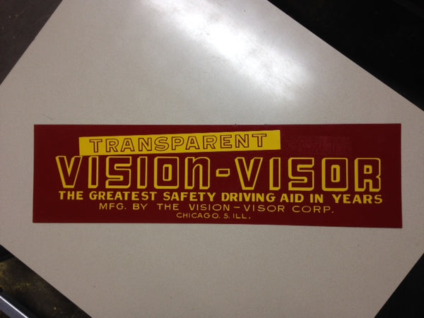 NOS Transparent Vision Visor Tin Sign