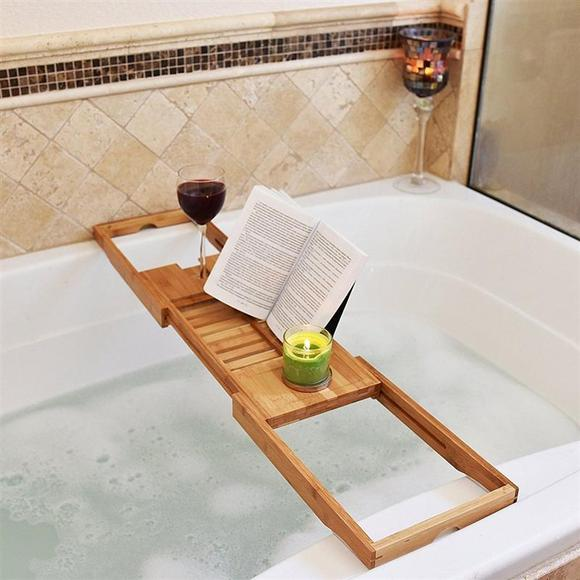Adjustable Bamboo Bathtub Tray