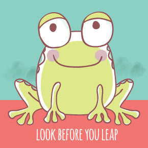 image of frog look before you leap