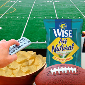 wise potato chips and football