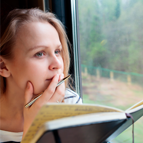 image of woman deep in thought
