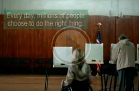 handicapped woman voting