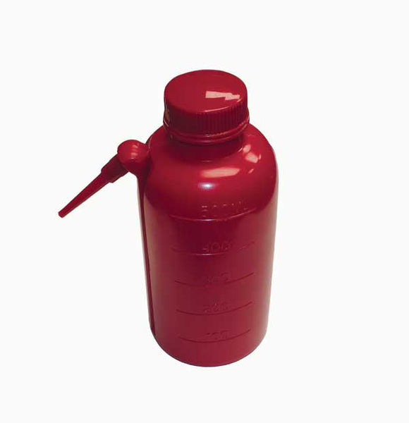 Wash Bottles, Unitary, Red, LDPE - lyonscientific