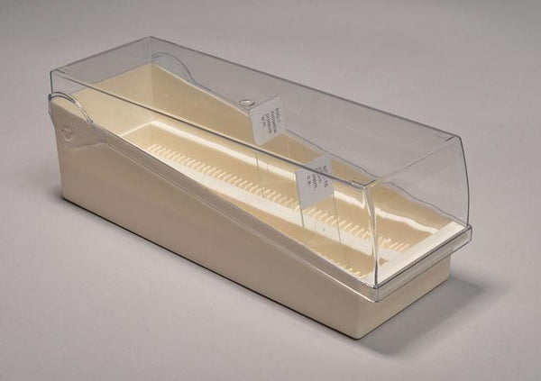 Slide Storage Rack with Clear Lid, Plastic