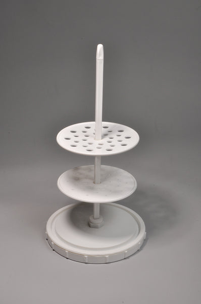 Pipette Stand, Vertical, 28-Place, PP - lyonscientific