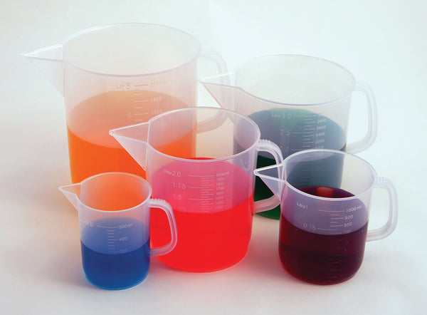 Beakers with Handle, Short Form, PP - lyonscientific
