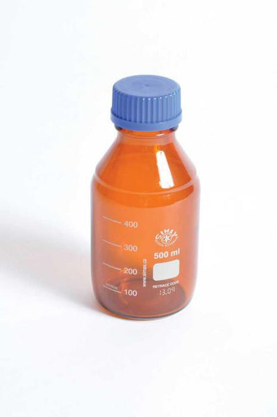 Media / Storage Bottles, Amber, Borosilicate Glass - lyonscientific