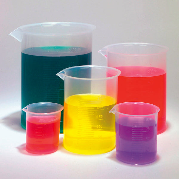Plastic Beaker Set of 5, PP - lyonscientific