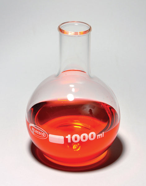 Boiling Flasks, Flat Bottom, Borosilicate Glass - lyonscientific