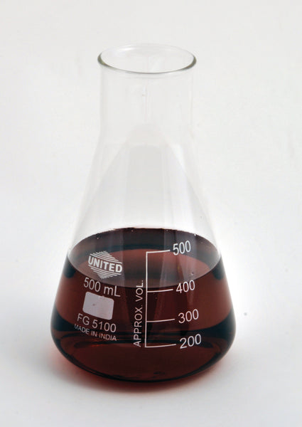 Erlenmeyer Flask, Wide Mouth, Borosilicate Glass - lyonscientific