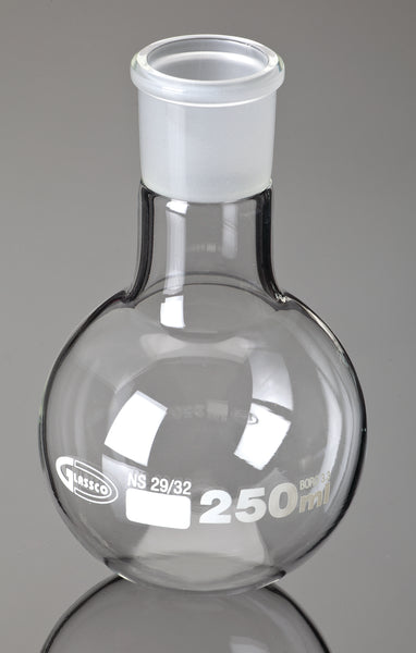 Boiling Flasks, Round Bottom, Ground Glass Joints, Borosilicate Glass - lyonscientific