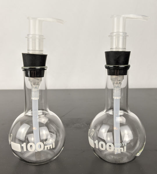 Lotion dispenser - 100 mL Boiling Flask Pair