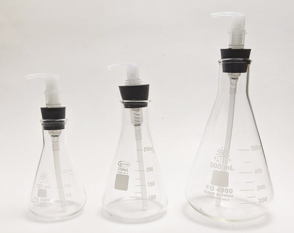 Lotion Dispenser Erlenmeyer Flask Set