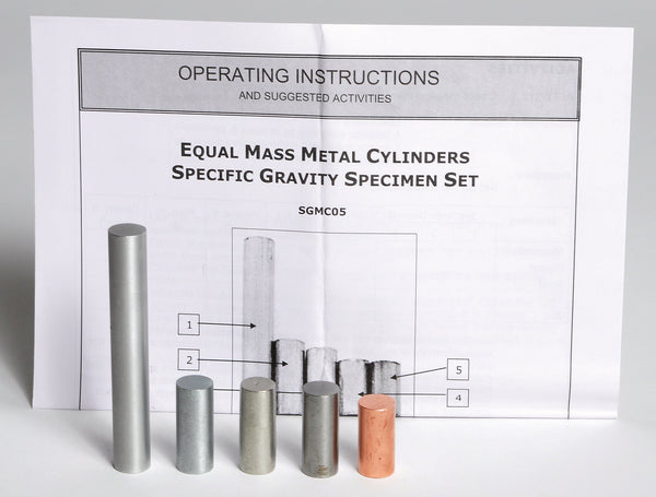 Equal Mass Metal Cylinders - lyonscientific