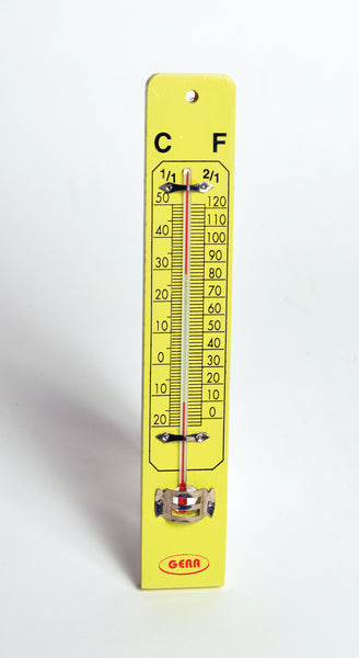 Wall Thermometer on Wooden Base - lyonscientific