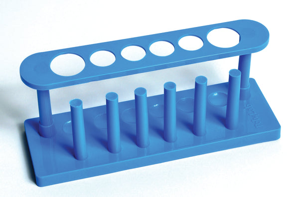 Test Tube Rack, Plastic, 6-Tube - lyonscientific