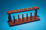 Test Tube Rack, 6-Tube, Wooden - lyonscientific