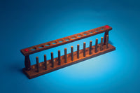 Test Tube Rack, 12-Tube, Wooden - lyonscientific