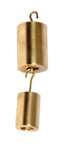 Hooked Weight Set of 9, Brass - lyonscientific