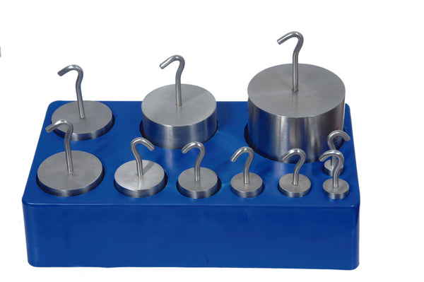 Hooked Weight Sets, Stainless Steel - lyonscientific
