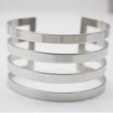 Stainless Steel Statement Cuff Bangle - FREEda Women NYC