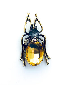 Crystal Beetle Brooch - FREEda Women NYC