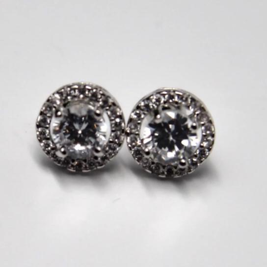 10mm Round Silver Post Stud Earrings Set