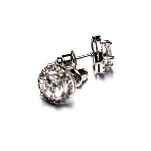 10mm Round Silver Post Stud Earrings Set - FREEda Women NYC