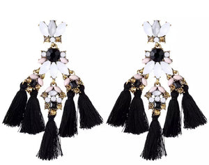 Bohemian Chic Statement Tassel Earrings - FREEda Women NYC
