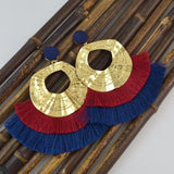 Multicolored Vintage Fringe Earrings - FREEda Women NYC