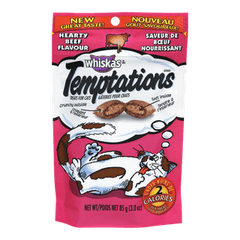 Whiskas Temptations Cat Treats, Hearty Beef